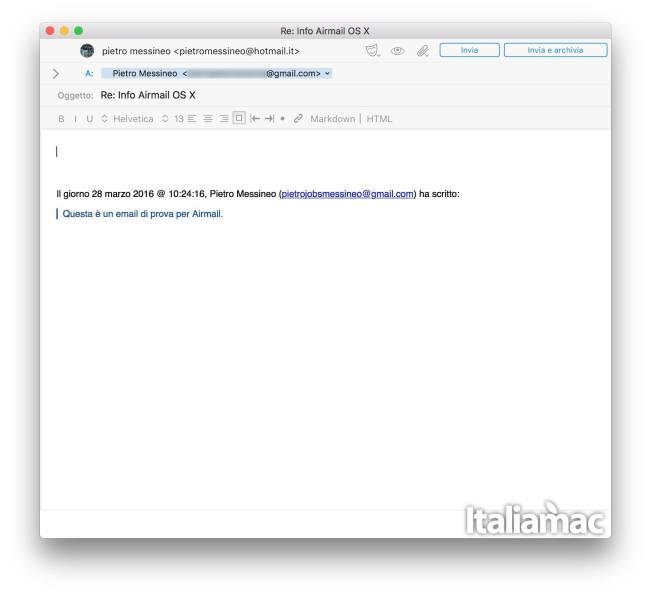 airmail risposta Airmail lalternativa allapp Mail per OS X