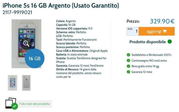 scheda iphone usato 620x389 TrenDevice: compra e vendi iPhone e iPad usati dal sito n.1 in Italia (coupon di 15 €)