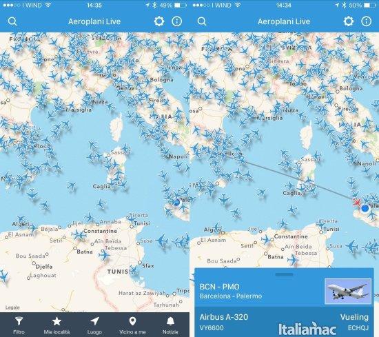 aeroplani live Aeroplani Live: Lapp per tenere sotto controllo i voli aerei