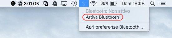Bluetooth Menù Bar