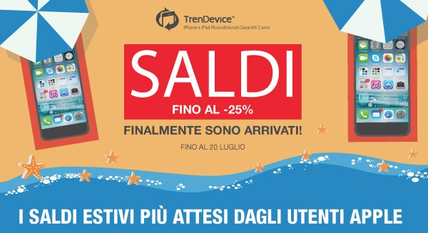 saldiestivi trendevice SALDI TrenDevice su iPhone e iPad Ricondizionati Garantiti 2 anni!