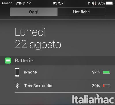 TimeBox Battery Level iPhone