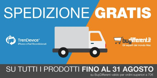 trasporto gratis buydifferent trendevice TrenDevice e BuyDifferent: SPEDIZIONE GRATIS fino al 31 Agosto!