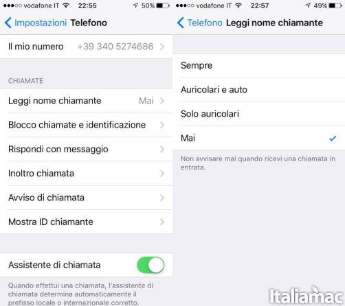 leggi nome chiamante ios 10 italiamac Con iOS 10 il vostro iPhone sarà in grado di leggere chi vi sta chiamando