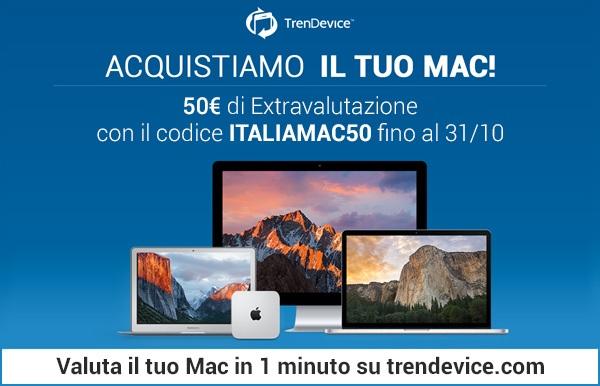 italiamac50 TrenDevice acquista il vostro Mac: con Italiamac 50 € di extravalutazione