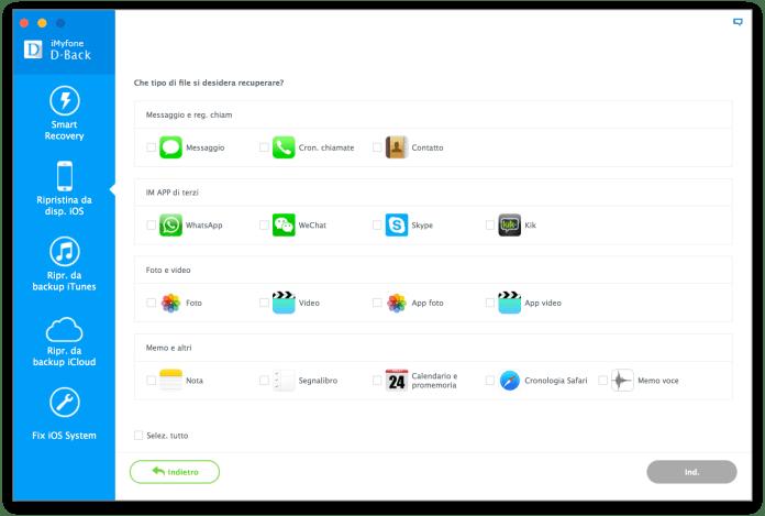 schermata 2016 08 25 alle 16.42.19 iMyfone D Back: Recupera i dati persi da iPhone/iPad/iPod Touch