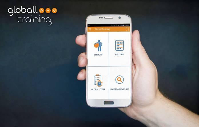 smartphone app gt 1 Globall Training, lapp che fornisce una guida alla Gym bal