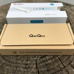 QacQoc Hub USB-C Package Open