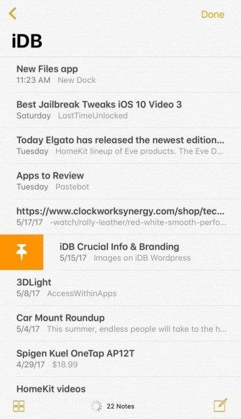 www.italiamac.it notes pinning Tredici funzioni che Apple ha copiato da Cydia e inserite in iOS 11