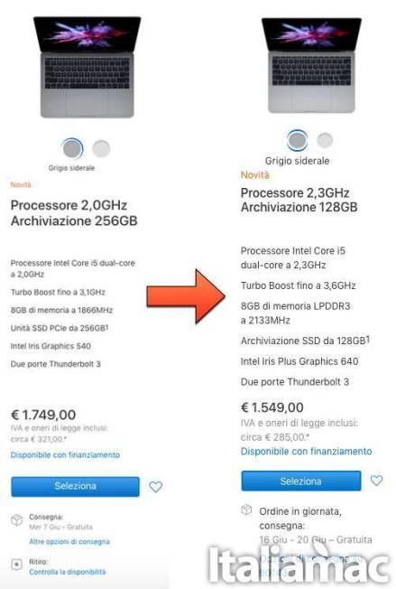 www.italiamac.it www.italiamac.it macbook pro 2016 comparison Prezzi tagliati per i MacBook Pro del 2016 e prestazioni migliorate