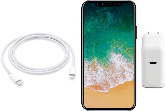 iPhone X fast charge ricarica rapida