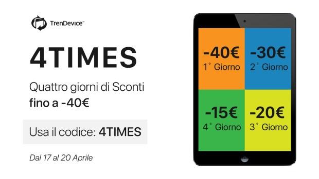 """italiamac promo 4times trendevice 620x349 TrenDevice vi lancia una sfida: """"Riuscirete ad essere più veloci degli sconti?"""""""