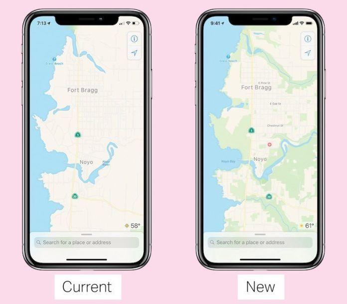 italiamac apple maps 2018 old new 800x701 Mappe: Apple sta ricreando lapp da zero, con due grandi novità