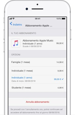 italiamac ios11 iphone7 settings itunes app store subscriptions apple music monthly Da oggi è possibile acquistare le app con il credito telefonico tramite SIM TIM