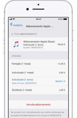 italiamac ios11 iphone7 settings itunes app store subscriptions apple music monthly Da oggi è possibile acquistare le app con il credito telefonico tramite SIM TIM