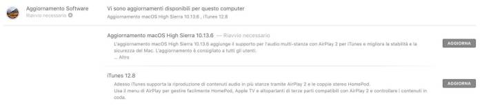 italiamac italiamac schermata 2018 07 10 alle 09.58.23 Apple rilascia macOS HigSierra 10.13.6 con supporto ad AirPlay 2