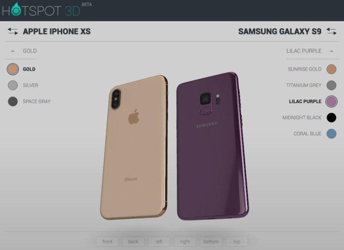 italiamac iphone xs galaxy 9 iPhone XS in un oggetto interattivo 3D da navigare e confrontare