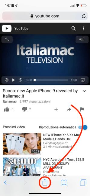 italiamac condivisione safari Scaricare video da YouTube su iPhone con una shortcut
