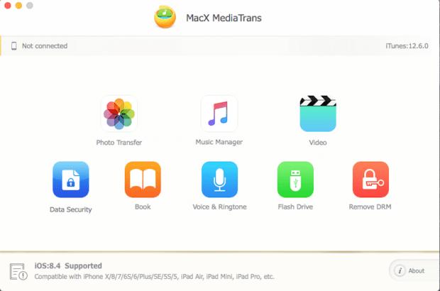 italiamac macx mediatrans 3 620x410 MacX MediaTrans: trasferire facilmente foto, musica e video da / per iPhone