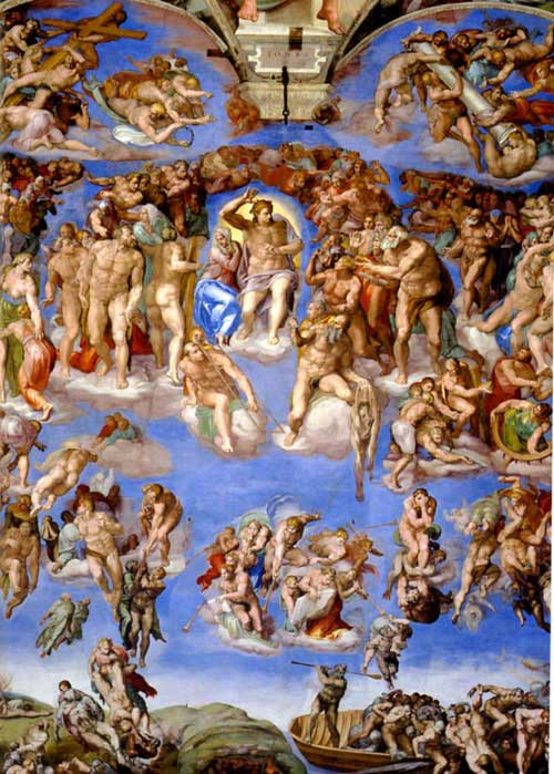 500x699 Last Judgement Michelangelo