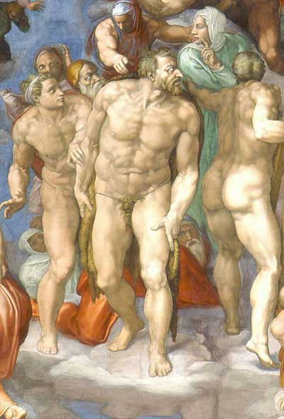 400x589 St John the Baptist Michelangelo the Last Judgement