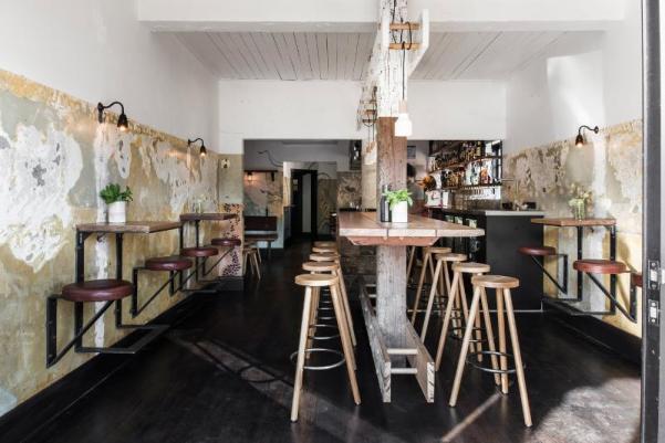industrial bar, industrial bar design, rustic bar design, rustic and industrial bar design in Australia, The Nelson - italianbark