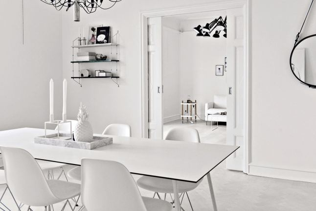 an home for total white addicted with stylish details | italianbark - Soggiorno Total White