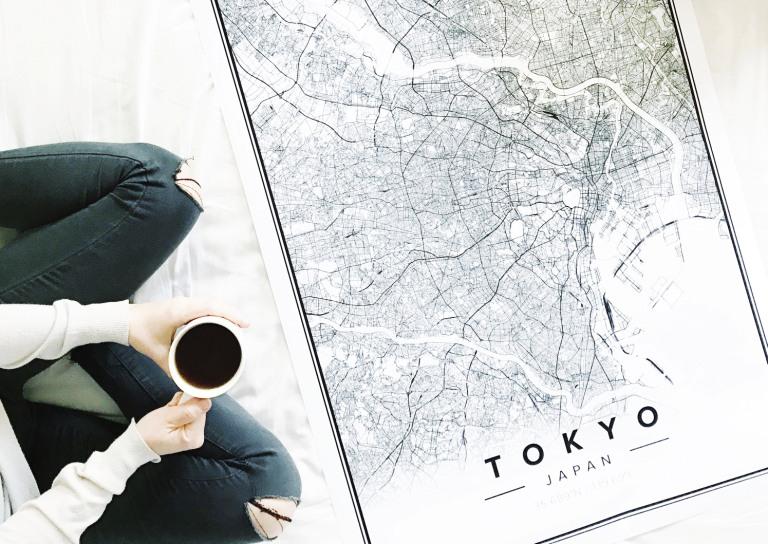 mapiful, poster map, map print, italianbark interior design blog