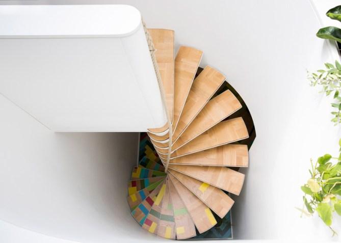 compact staircases design, small spaces ideas, small interiors, italianbark interior design blog, spyral staircase