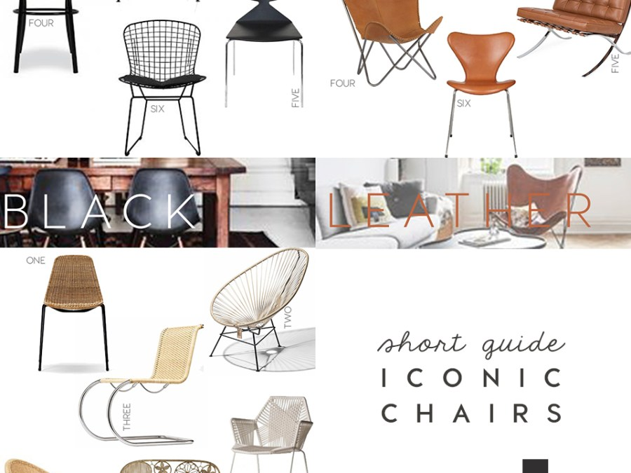 iconic seatings, design icons, chairs, black chairs design, rattan chairs, leather accent chair, interior trends, italianbark interior design blog