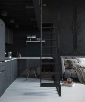 compact staircases design, small spaces ideas, small interiors, italianbark interior design blog, black interior