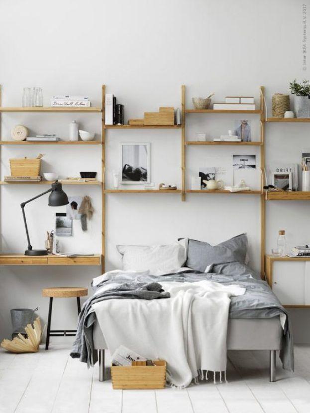 10 cozy minimialist interiors on ITALIANBARK interior design blog, IKEA Swalnas wood shelf