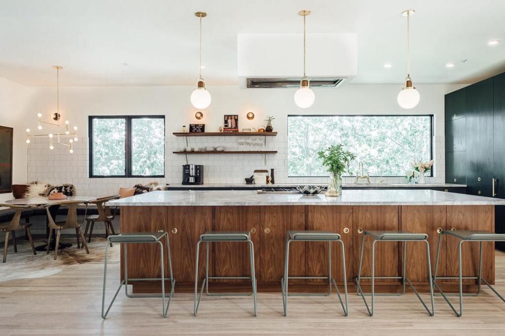 american kitchens design, bertazzoni kitchens, modern kitchen in wood - ITALIANBARK interior design blog
