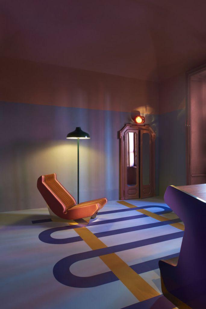 Pantone 2018 ultra violet decor, violet interiors, milan design week 2017
