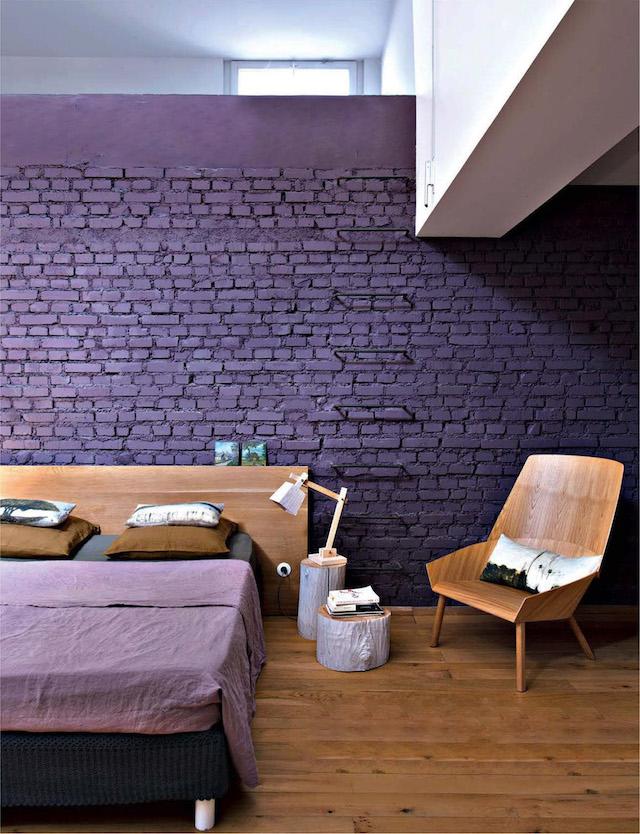 Pantone 2018 ultra violet decor, violet interiors, purple wall