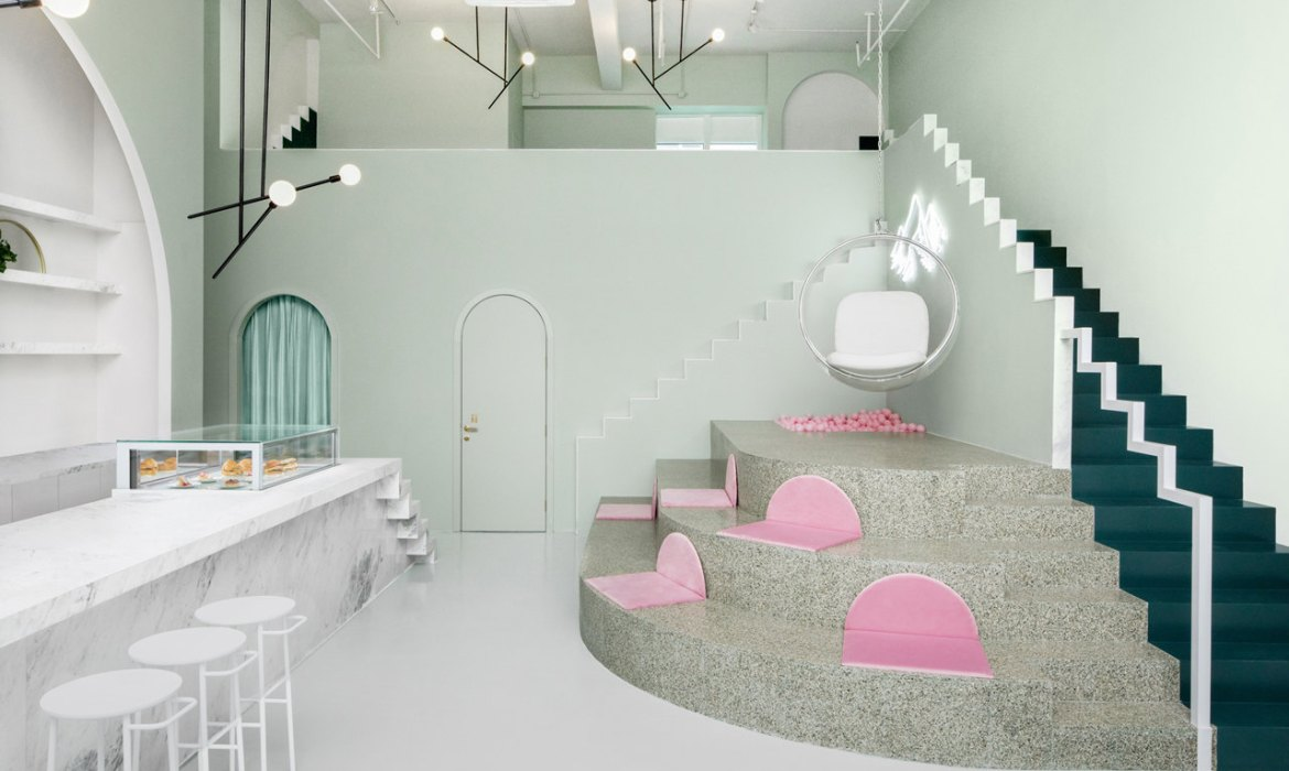 CAFE DESIGN | The Budapest Café in China is inspired by Wes Anderson movie