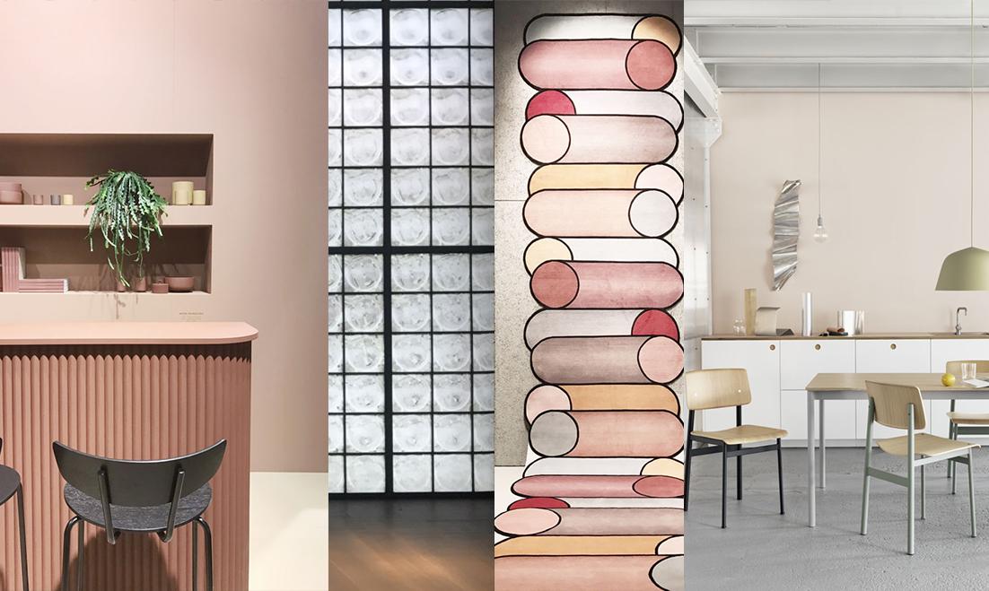 imm cologne 2018 trends, interior trends 2019, italianbark interior design blog, glass blocks, organic design, millennial pink
