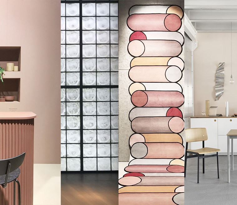 imm cologne 2018 trends, interior trends 2019, italianbark interior design blog, glass blocks, organic design, millennial pink