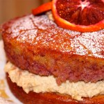 Blood Orange Polenta Olive Oil Cake & Orange Mascarpone Icing