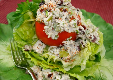 Chicken Salad with Dried Cranberries and Grapes