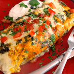 Creamy, Cheesy Chicken Enchiladas
