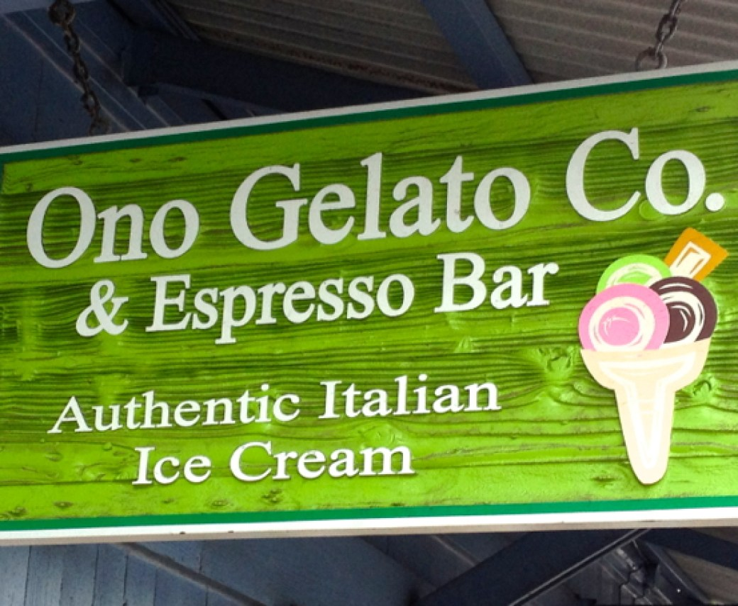 Ono Gelato - owned by a guy from Tuscany, Italy. It really was the real deal, with fresh Hawaiian fruit for flavors!