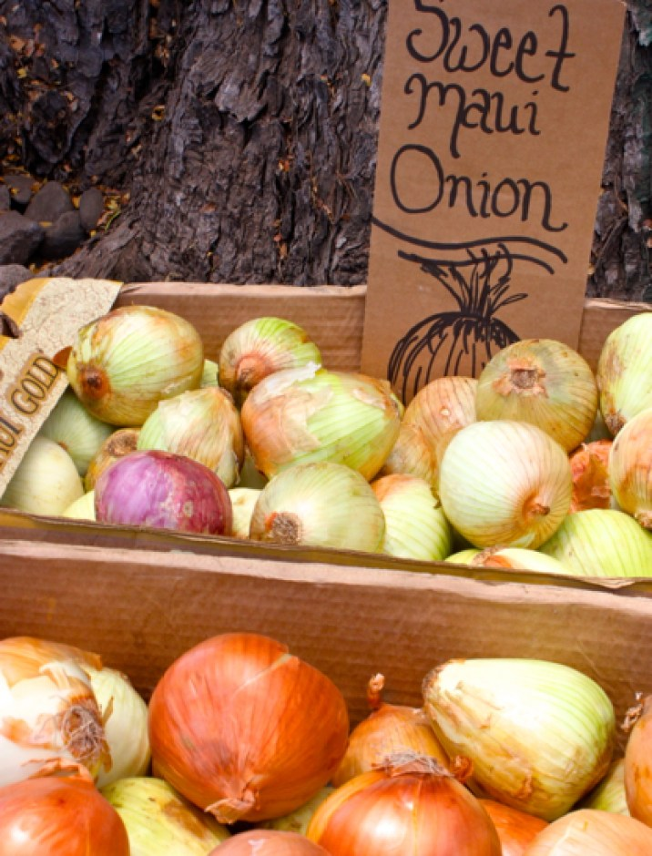 Maui onions, Hawaiian Farmers' Market, Hawaiian native foods