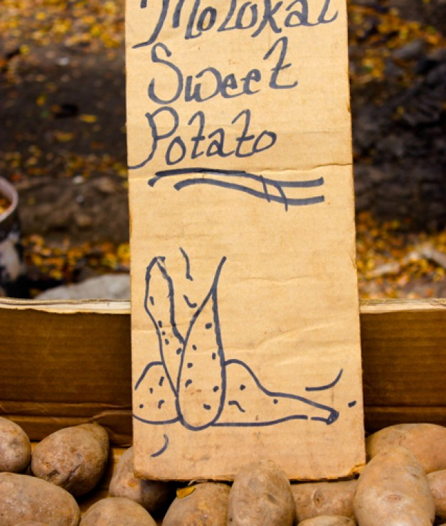 Hawaiian sweet potatoes, Hawaiian Farmers' Market