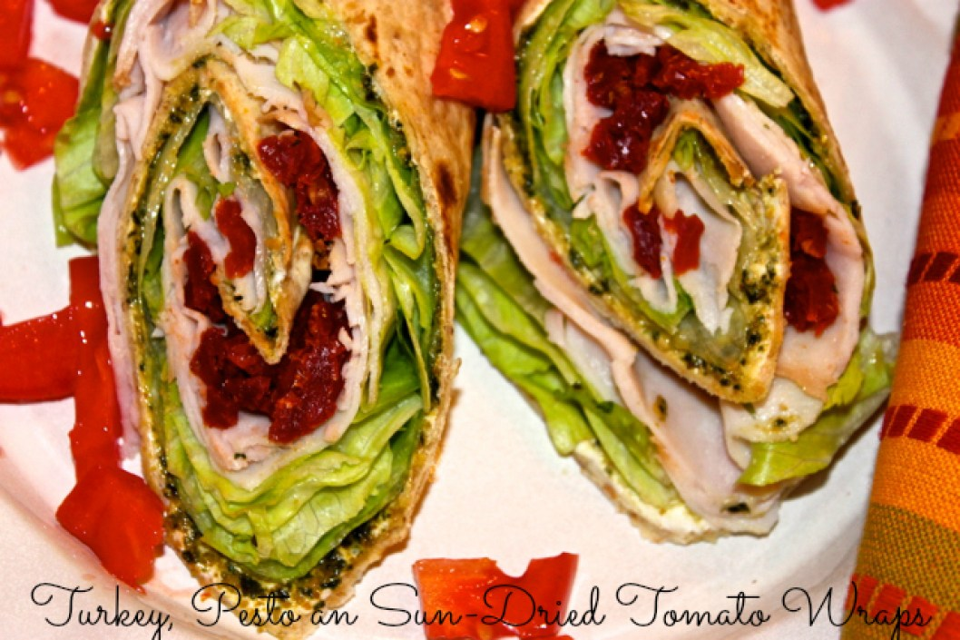turkey pesto sun-dried tomato wraps