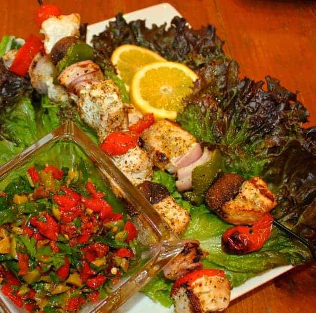 Grilled Swordfish with Sun-Dried Tomato Salsa Cruda