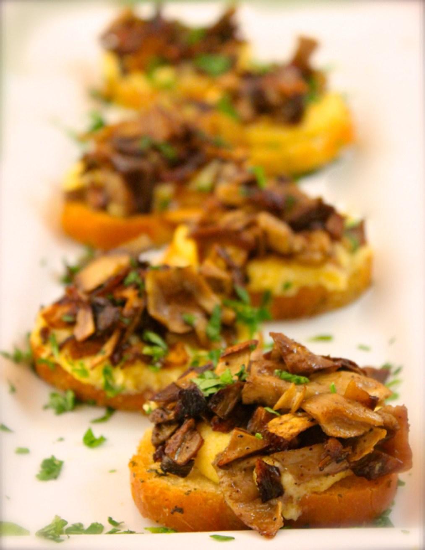 Polenta Mushroom Crostini