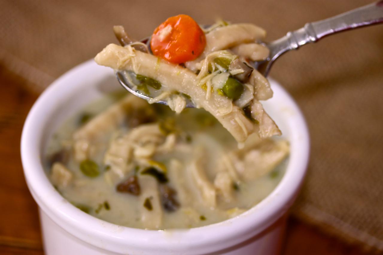 homemade creamy chicken noodle soup la bella vita cucina