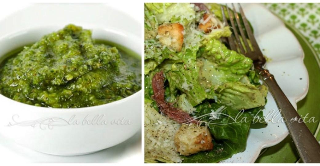 Pesto Caesar Salad