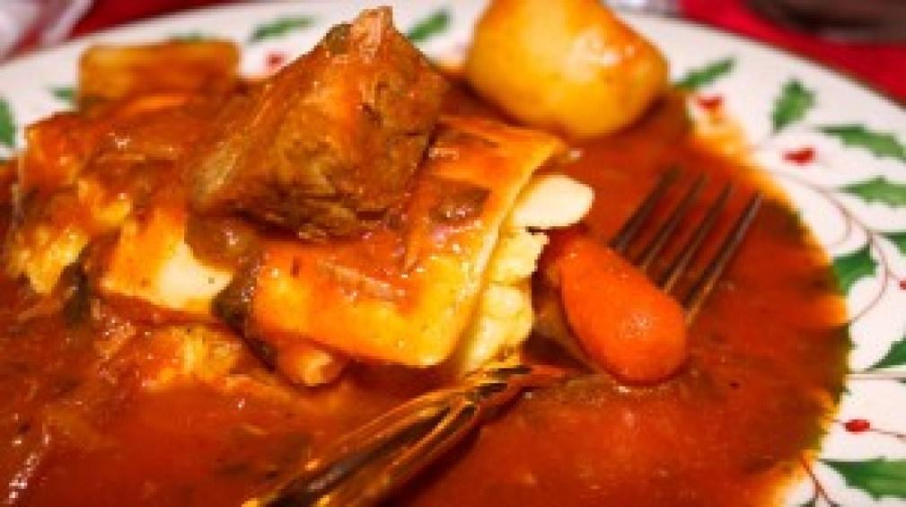 Italian Beef Stew on Polenta